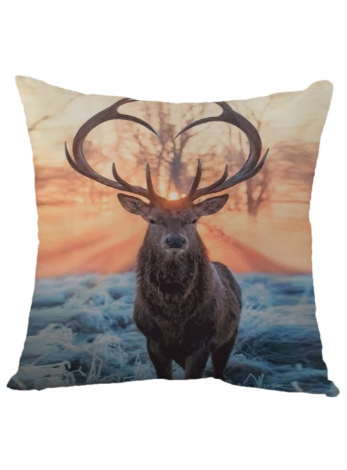 Squared cushion with a deer - Cervo