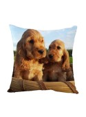 Squared cushion with two dogs - Cani