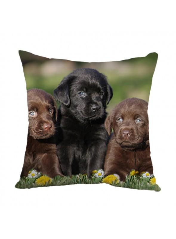 Squared cusion with a three puppy dogs - Cuccioli
