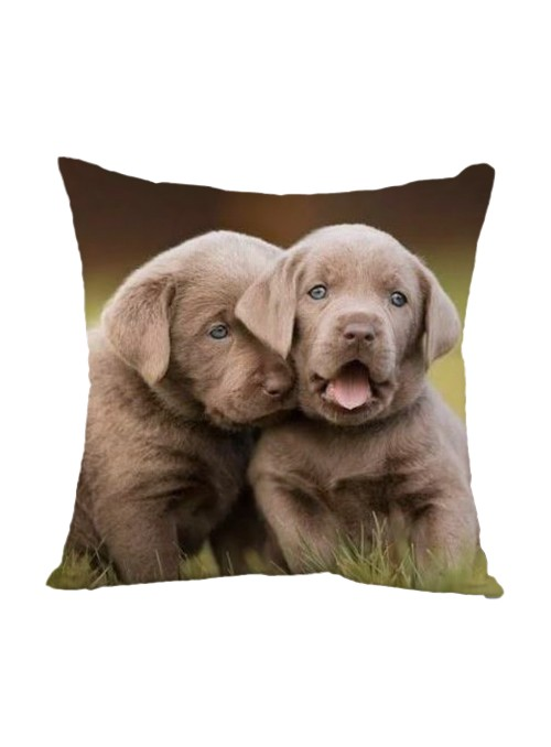 Squared cushion with two puppy dogs - Fratelli