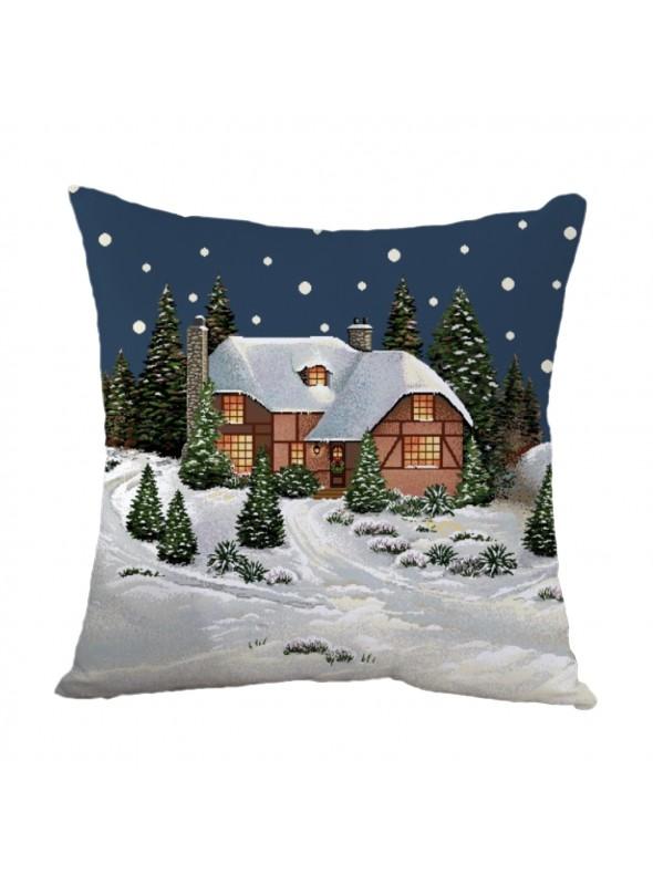 Squared stuffed cushion - Paesaggio montagna