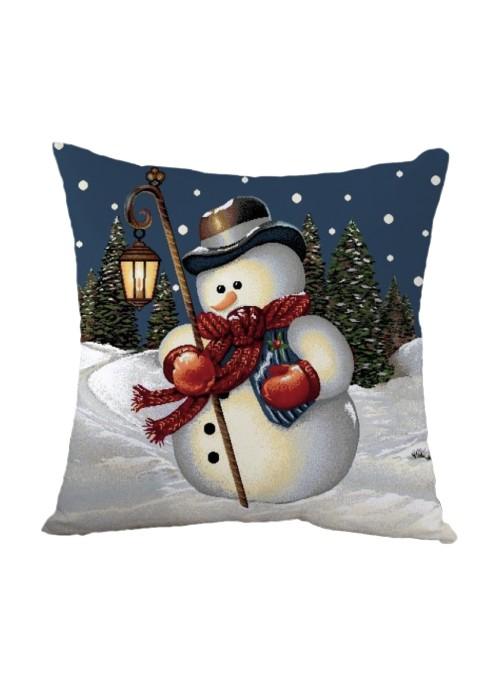 Cuscino bombato quadrato - Pupazzo di neve