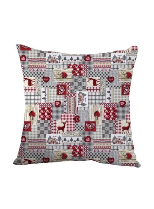 Squared stuffed cushion - Patchwork