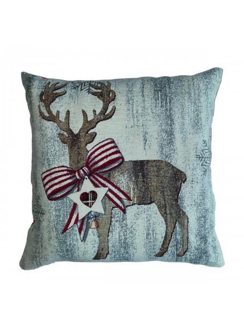 Cuscino bombato quadrato - Cervo natalizio