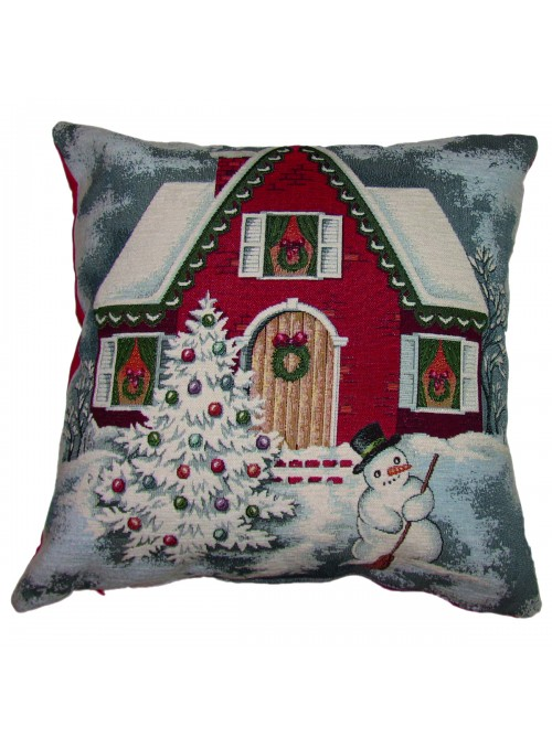 Squared stuffed cushion - Chalet montagna