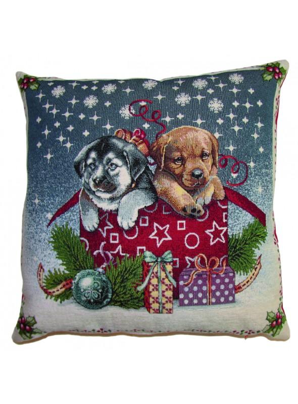 Squared stuffed cushion - Cagnolini natalizi
