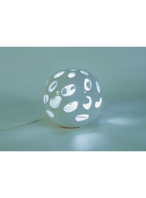 Lampada rotonda in ceramica - Traforo