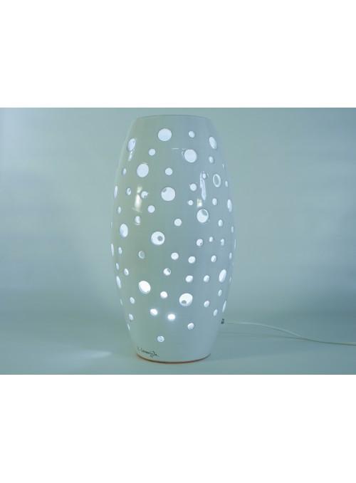 Lampada a fuso in ceramica - Fuso a pois