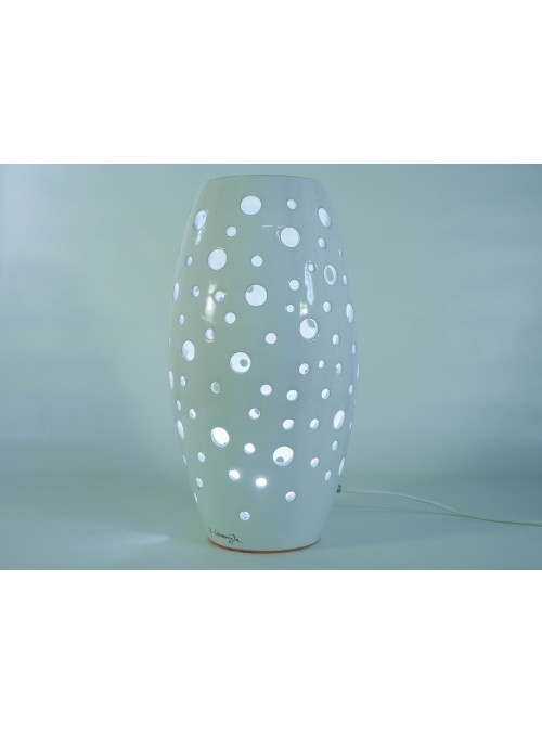 Spindle shape ceramic lamp - Fuso a pois