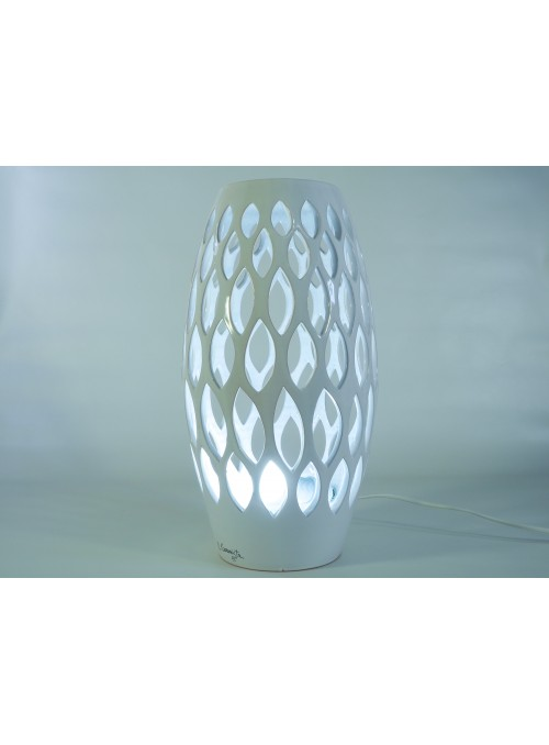 Spindle shape ceramic lamp - Fuso a foglie