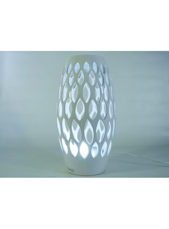 Spindle shape ceramic lamp - Fuso a foglie