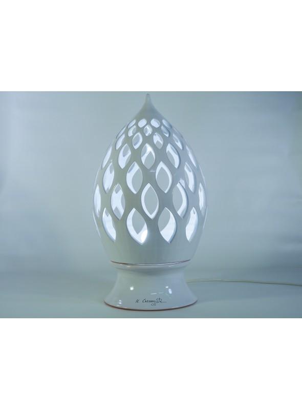 Drop shape ceramic lamp - Goccia a foglie
