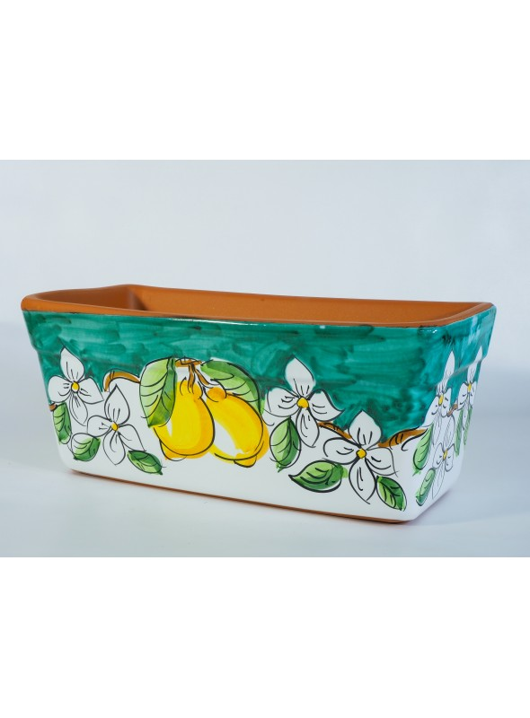 Cassetta portafiori in ceramica - Limoni