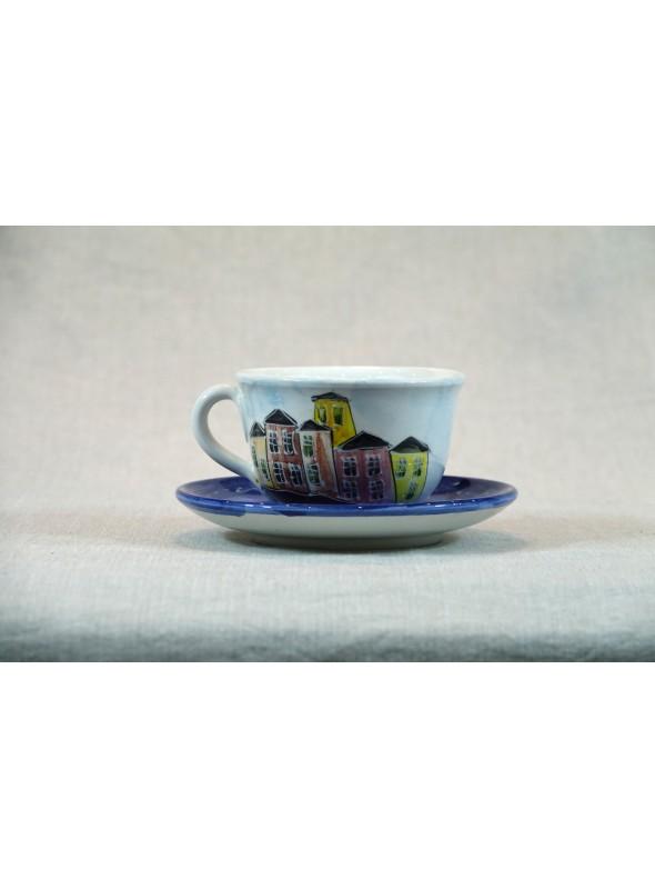 Breakfast cup in ceramic