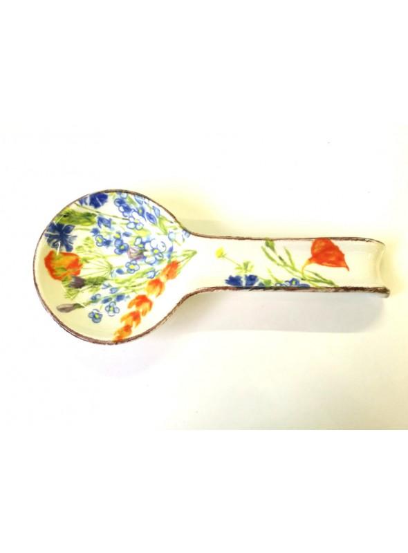 Ceramic spoon rest - Fiori