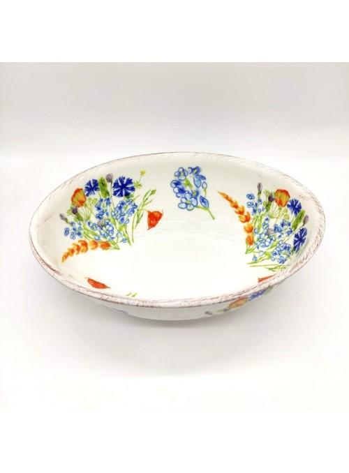 Insalatiera in ceramica - Fiori
