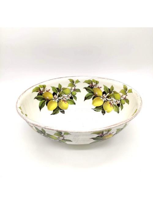 Insalatiera in ceramica - Limoni