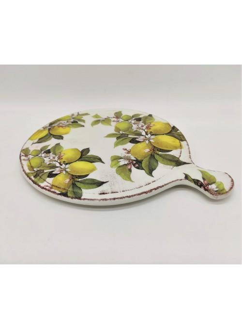 Poggiapentola in ceramica - Limoni