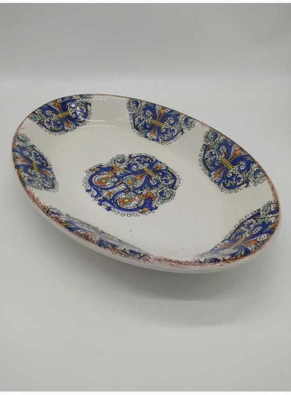 Oval ceramic tray