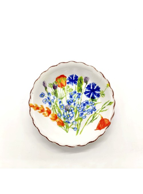 Ceramic plate flower shaped