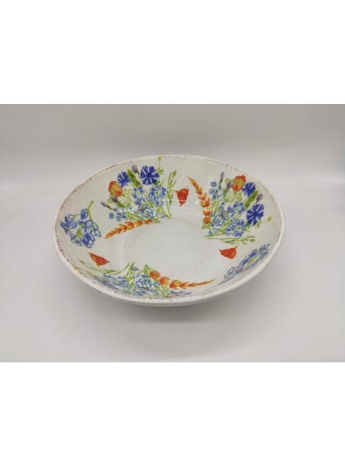 Insalatiera in ceramica anticata