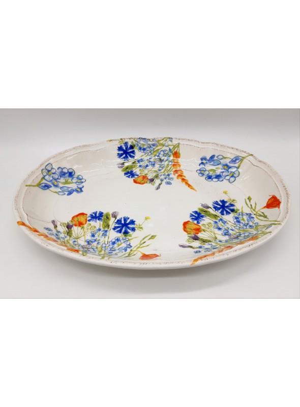 Vassoio festonato in ceramica