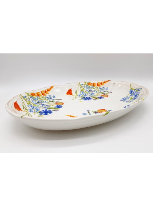 Scalloped ceramic tray