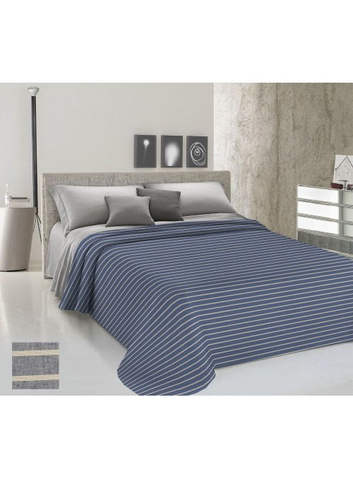 Yarn-dyed double bedspread - Rigato