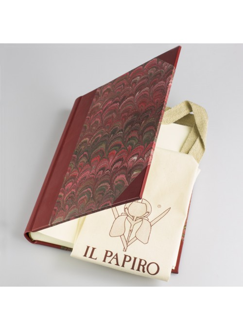 Leather and paper photo album