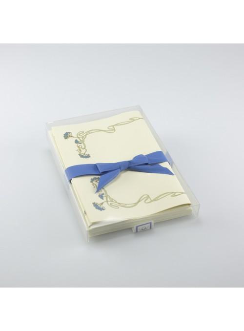 Carta da lettere - Cornice blu