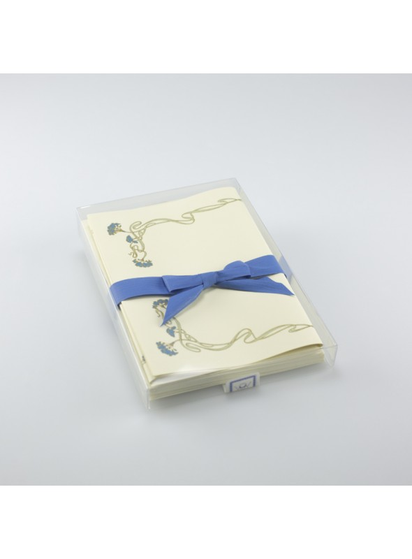 Stationary paper - Cornice blu