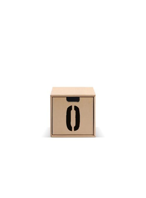 Originale contenitore di ecodesign in cartone - Pixel Numeri