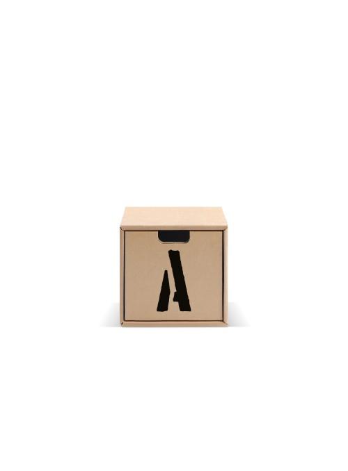 Originale contenitore di ecodesign in cartone - Pixel Lettere